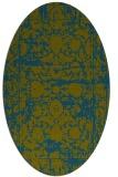 rug #1079698 | oval green damask rug