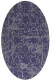 rug #1079710 | oval blue-violet traditional rug
