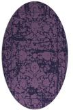 rug #1079718 | oval blue-violet traditional rug