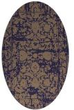 rug #1079726 | oval beige faded rug