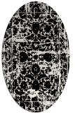 rug #1079762 | oval black traditional rug