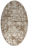 rug #1079774 | oval beige traditional rug