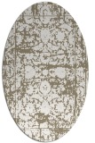 rug #1079778 | oval white faded rug