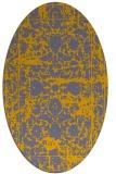 rug #1079788 | oval faded rug