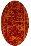 rug #1079822 | oval orange faded rug