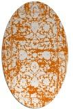 rug #1079826   oval orange damask rug