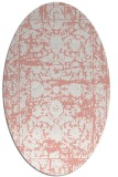 rug #1079850 | oval white faded rug