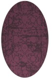 rug #1079854   oval purple faded rug