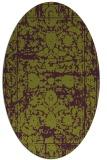 rug #1079858 | oval purple faded rug