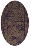 rug #1079862   oval purple faded rug