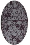 rug #1079866 | oval purple faded rug