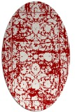 rug #1079870 | oval red damask rug