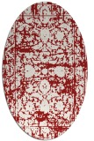 rug #1079878 | oval red traditional rug