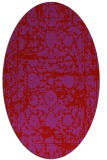 rug #1079882 | oval red traditional rug
