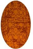 rug #1079886   oval red-orange faded rug