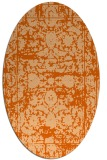 rug #1079890 | oval red-orange damask rug