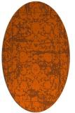 rug #1079894   oval red-orange faded rug