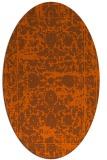 rug #1079895 | oval damask rug