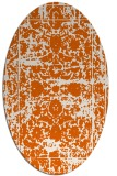 rug #1079898   oval red-orange faded rug
