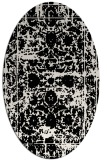 rug #1079906 | oval black traditional rug