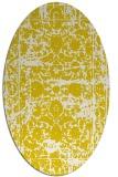 rug #1079910 | oval white traditional rug