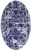 rug #1079914 | oval blue faded rug