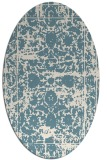 rug #1079926 | oval white faded rug