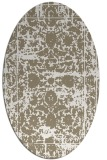 rug #1079930 | oval white faded rug