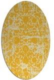 rug #1079934 | oval yellow faded rug