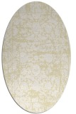 rug #1079938 | oval white faded rug