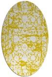 rug #1079942 | oval yellow traditional rug
