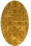 rug #1079946 | oval yellow faded rug
