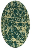 rug #1079950 | oval yellow faded rug