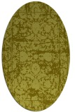 rug #1079954 | oval light-green rug