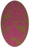 rug #1079962 | oval light-green rug