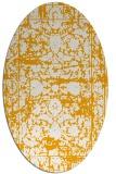 rug #1079970 | oval light-orange damask rug