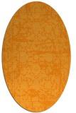 rug #1079978 | oval light-orange faded rug