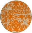 rug #1080354 | round orange damask rug