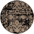 rug #1080366 | round black damask rug