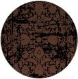 rug #1080370 | round black faded rug