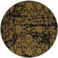 rug #1080374 | round mid-brown damask rug