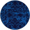 rug #1080386 | round blue damask rug