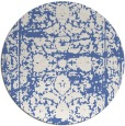rug #1080402 | round blue faded rug