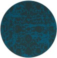 rug #1080422 | round blue faded rug