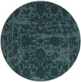 rug #1080430 | round blue-green faded rug