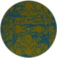 rug #1080434 | round blue-green rug