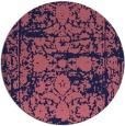 rug #1080450   round pink damask rug