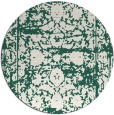 rug #1080490 | round blue-green faded rug