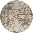 rug #1080510 | round mid-brown damask rug