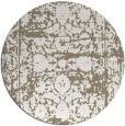rug #1080514 | round white faded rug